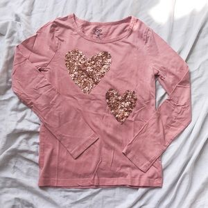 Long sleeve shirt - sequined - Size L (10-12)